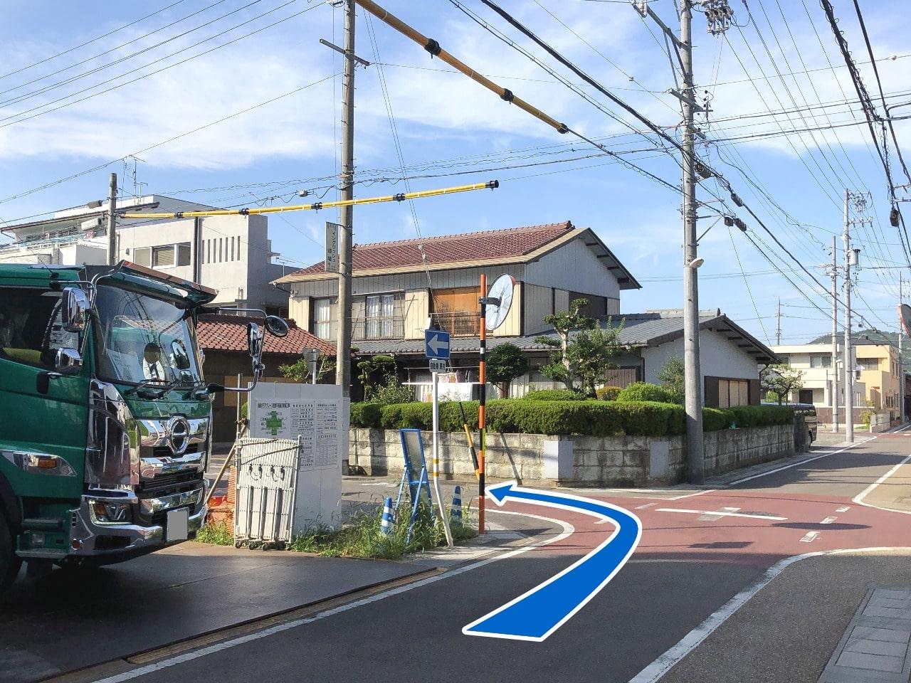 長良北町バス停(岐阜大学病院行き)からのイングリッシュ道場へのバスでの行き方